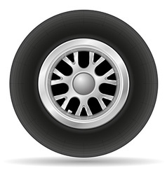 Wheel for racing car vector