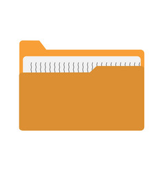 Yellow file folder icon on white background vector