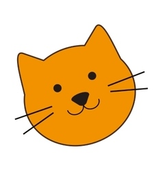 Cute cat cartoon icon vector