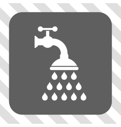 Shower tap rounded square button vector