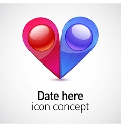 Date icon concept vector