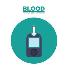 Diabetes blood test image vector