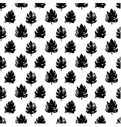 Tropical leaf seamless pattern vector