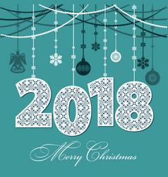 2018 happy new year vector image vector image