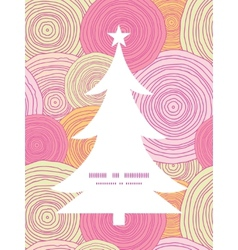 Doodle circle texture christmas tree silhouette vector