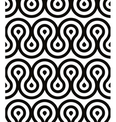 Grotesque waves seamless pattern black and white vector image