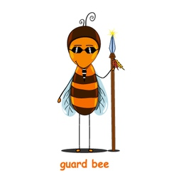 Guard bee vector