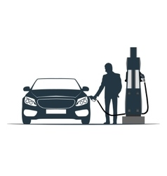 Car fuelling transport gas station vector