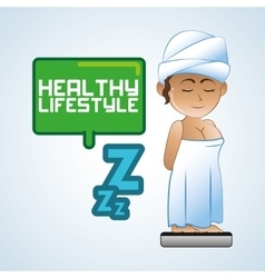 Healthy lifestyle icon pixel concept flat vector