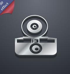retro photo camera icon symbol 3D style Trendy vector image