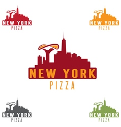New york pizza concept design template vector
