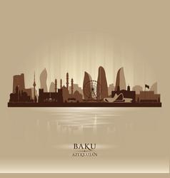 baku azerbaijan city skyline silhouette vector image