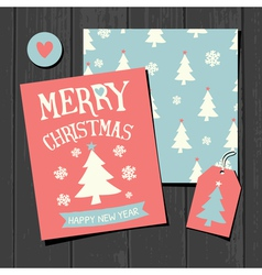 Christmas Templates Retro Paper Collection vector image vector image