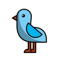 cute bird sea icon vector image
