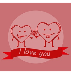 Cute Valentines day background vector image vector image