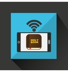 Digital holy bible internet icon vector