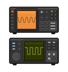 Digital oscilloscope set vector