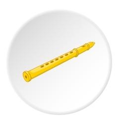 Flute icon cartoon style vector