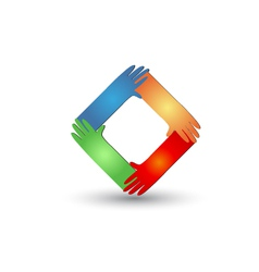 Hands helping logo vector image