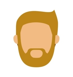 head man with beard without face vector image
