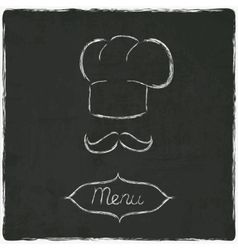 menu on old black board vector image