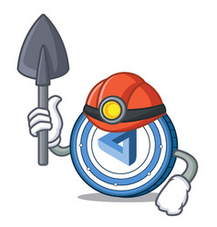 Miner maidsafecoin mascot cartoon style vector