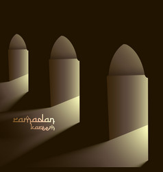Mosque doors with lights vector