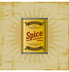 Retro Spice Can vector image vector image