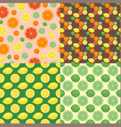 ripe orange products fruits seamless pattern vector image