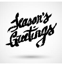 Seasons greetings christmas calligraphy vector