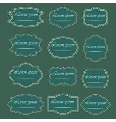 Set of vintage frames and labels vector image