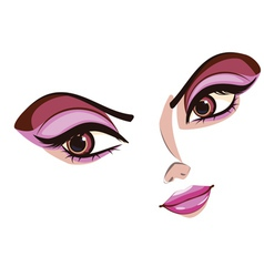 Stylized Female Face vector image vector image