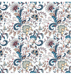 Vintage flowers seamless background in provence vector