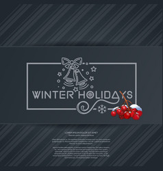 Winter holidays lettering card vector