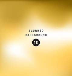 Blurred abstract gradient background gold yellow vector