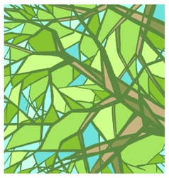 Stylized abstract green tree vector