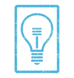 Lamp bulb icon rubber stamp vector