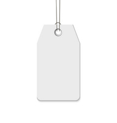 Blank tag with string isolated on white background vector