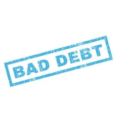 Bad debt rubber stamp vector