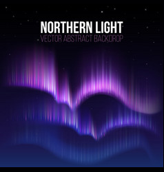 Arctic aurora northern lights in polaris alaska vector