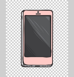 pink glamorous smartphone isolated vector image