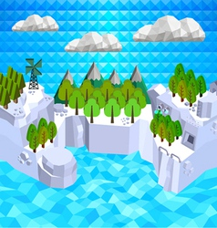 Low poly islands vector image