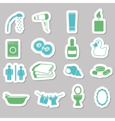 Bathroom stickers vector