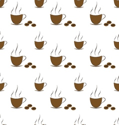 Coffee with beans pattern vector