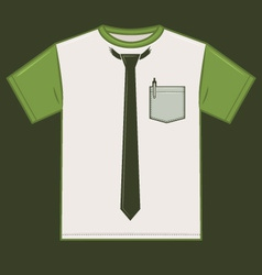 T shirt tie template vector