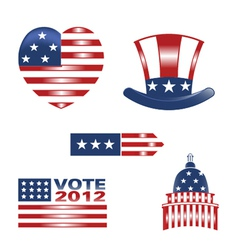 american set 5 vector image
