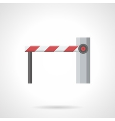 Closed barrier flat color icon vector
