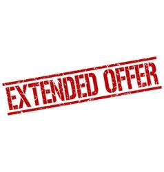 Extended offer stamp vector