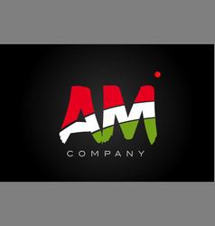 Am a m alphabet letter logo combination icon vector