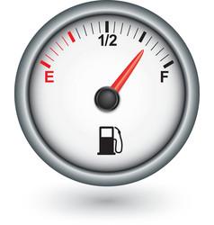 Car fuel gauge vector image